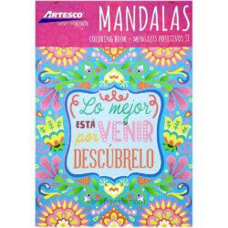 Libro de Colorear para Adultos - Mandalas - Mensajes Positivos II - Artesco