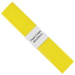Rollo de Papel Crepé (50 x 200 cm) Amarillo Canario