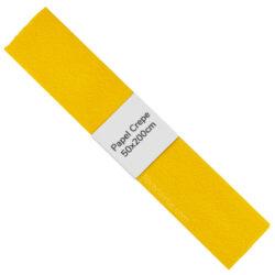 Rollo de Papel Crepé (50 x 200 cm) Amarillo Oro