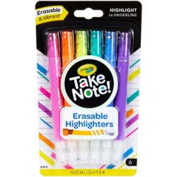 Set 6 Resaltadores Borrables Crayola Take Note!