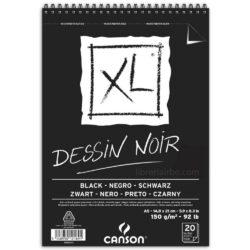 Bloc de Papel Negro CANSON XL® Dessin Noir con 20 Hojas de 150 g Tamaño A5