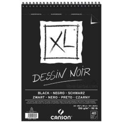 Bloc de Papel Negro CANSON XL® Dessin Noir con 40 Hojas de 150 g Tamaño A3