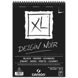 Bloc de Papel Negro CANSON XL® Dessin Noir con 40 Hojas de 150 g Tamaño A4