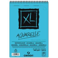 Bloc de Papel para Acuarela CANSON XL® Aquarelle con 20 Hojas de 300 g Tamaño A5