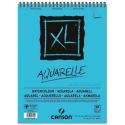 Bloc de Papel para Acuarela CANSON XL® Aquarelle con 30 Hojas de 300 g Tamaño A4