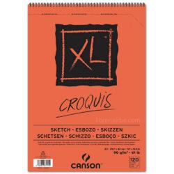 Bloc de Papel para Esbozos CANSON XL® Croquis con 120 Hojas de 90 g Tamaño A3