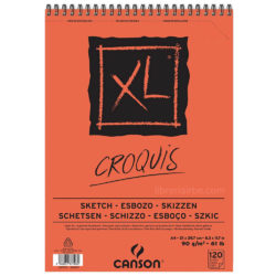 Bloc de Papel para Esbozos CANSON XL® Croquis con 120 Hojas de 90 g Tamaño A4