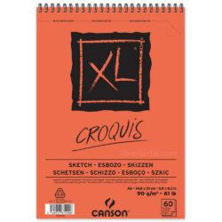Bloc de Papel para Esbozos CANSON XL® Croquis con 60 Hojas de 90 g Tamaño A5