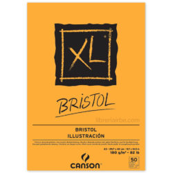 Bloc de Papel para Ilustración CANSON XL® Bristol con 50 Hojas de 180 g Tamaño A3