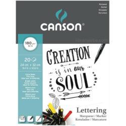 Bloc de Papel para Lettering con Marcadores CANSON con 20 Hojas de 180 g (24 x 32 cm)