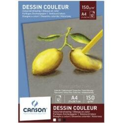 Bloc de Papel para Pasteles CANSON con 12 Hojas de 150 g Tamaño A4