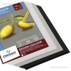Bloc de Papel para Pasteles CANSON con 12 Hojas de 150 g Tamaño A4 Vista