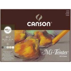 Bloc de Papel para Pasteles Tonos Tierra CANSON Mi-Teintes® con 30 Hojas de 160 g (24 x 32 cm)