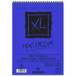 Bloc de Papel para Técnicas Mixtas CANSON XL® Mix-Media con 15 Hojas de 300 g Tamaño A5
