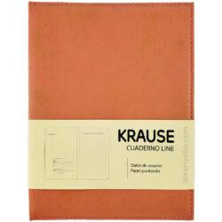 Cuaderno Anillado con Hojas Punteadas KRAUSE Tamaño A5 Naranja