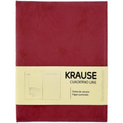 Cuaderno Anillado con Hojas Punteadas KRAUSE Tamaño A5 Rojo