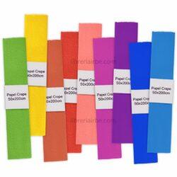 Rollos de Papel Crepé por Unidad (50×200 cm)