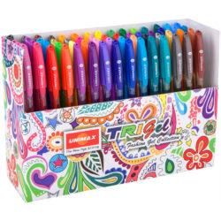 Set 60 Bolígrafos Gel de Colores UNIMAX TRIGEL Fashion