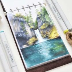 Marcadores COPIC Ilustración Cascada