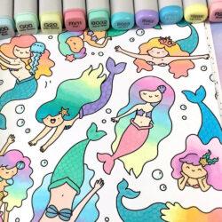 Marcadores COPIC Ilustración Doodle