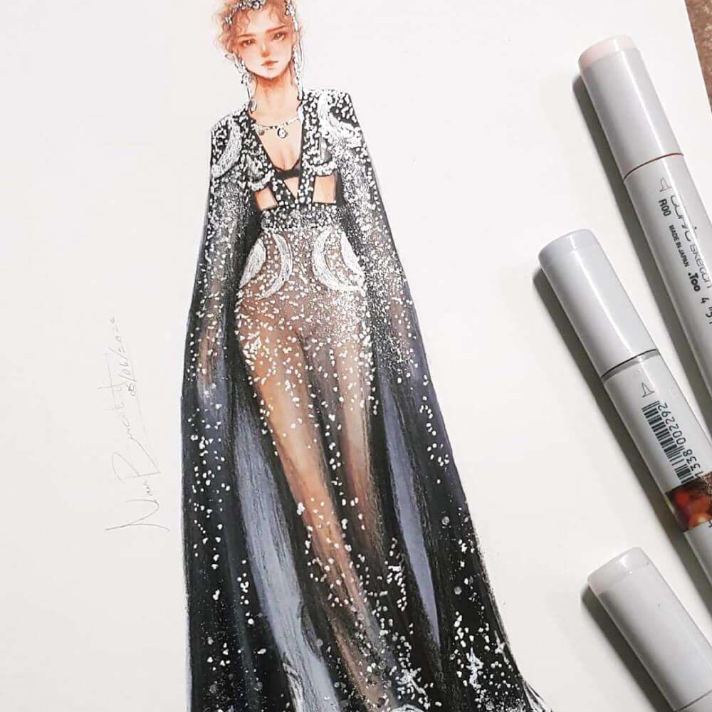 Marcadores COPIC Ilustración Fashion