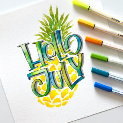 Marcadores STABILO Pen 68 Brush Lettering July