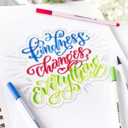 Marcadores STABILO Pen 68 Brush Lettering Kindness