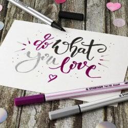 Marcadores STABILO Pen 68 Brush Lettering Love