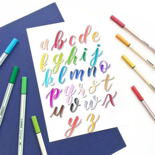 Marcadores STABILO Pen 68 Brush Lettering Swatch