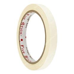 Rollo Cinta Adhesiva Masking de Papel Five Stick 1-2- (12 mm) 26 Yardas