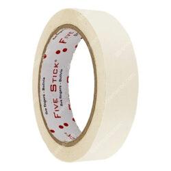 Rollo Cinta Adhesiva Masking de Papel Five Stick 1- (24 mm) 26 Yardas