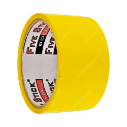 Rollo Cinta Adhesiva de Embalaje Five Stick 2- (48 mm) 20 Yardas Amarillo