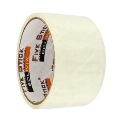 Rollo Cinta Adhesiva de Embalaje Five Stick 2- (48 mm) 20 Yardas Transparente