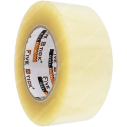 Rollo Cinta Adhesiva de Embalaje Five Stick 2- (48 mm) 250 Yardas Transparente