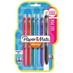 Set 6 Bolígrafos Retráctiles Paper Mate Inkjoy Gel