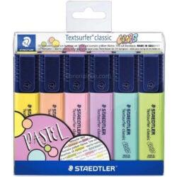 Set 6 Resaltadores STAEDTLER Textsurfer Classic - Pastel