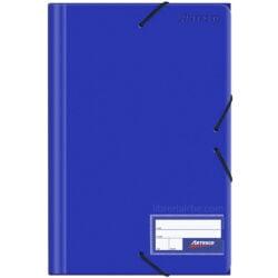 Folder con Liga Plástico Tamaño Oficio Artesco Azul
