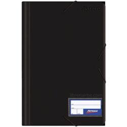 Folder con Liga Plástico Tamaño Oficio Artesco Negro