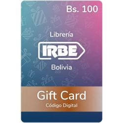 Gift Card Librería IRBE Bs. 100