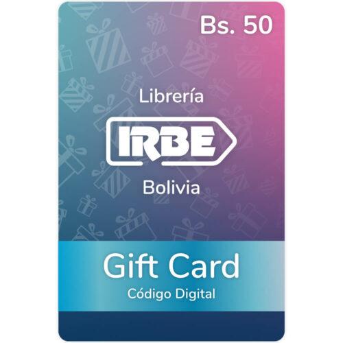 Gift Card Librería IRBE Bs. 50