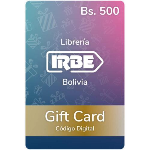 Gift Card Librería IRBE Bs. 500