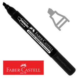 Marcador Permanente Punta Biselada Faber-Castell Multimark Winner 54-E Negro Nuevo