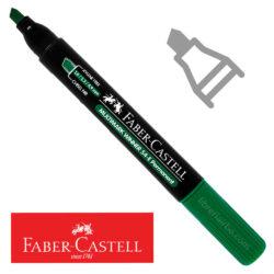 Marcador Permanente Punta Biselada Faber-Castell Multimark Winner 54-E Verde Nuevo