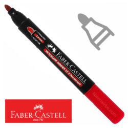 Marcador Permanente Punta Redonda Faber-Castell Multimark Winner 52-E Rojo Nuevo