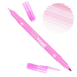 Rotulador Acuarelable Doble Punta Tombow Twintone - Candy Pink 79