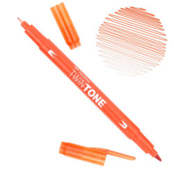 Rotulador Acuarelable Doble Punta Tombow Twintone - Carrot Orange 76