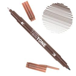 Rotulador Acuarelable Doble Punta Tombow Twintone - Chocolate 41