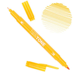 Rotulador Acuarelable Doble Punta Tombow Twintone - Chrome Yellow 04