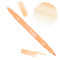 Rotulador Acuarelable Doble Punta Tombow Twintone - Honey Orange 48