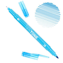 Rotulador Acuarelable Doble Punta Tombow Twintone - Light Blue 13